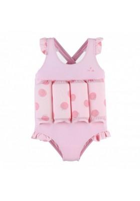Costum de inot flotabil Buline roz (marime - 1 an)