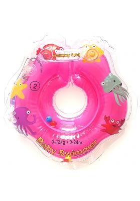 Colac de gat pentru bebelusi Babyswimmer Roz 0-24 luni