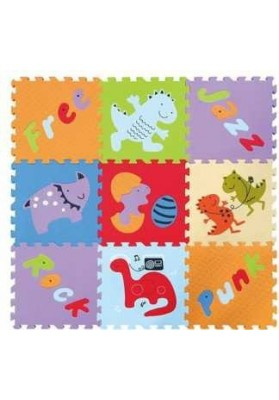 Babygreat Covoras Puzzle Lumea Dinozaurilor 92x92 cm