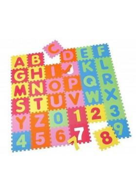 Covoras Puzzle Alfabet Numere, 36 buc, Knorrtoys 21004