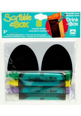 Set de creioane si autocolante, pentru Cana Drink in the Box