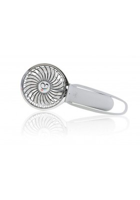 Buggygear Mini ventilator cu incarcator USB-Gri/Chrome