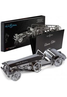 Kit Puzzle Mecanic 3D, Metal, TimeForMachine, Model Masina Epoca Glorious Cabrio 2