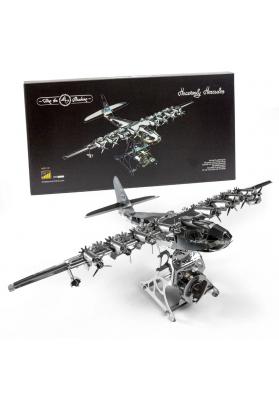 Kit Puzzle Mecanic 3D, Metal, TimeForMachine, Model Avion Heavenly Hercules