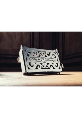 Kit Puzzle Mecanic 3D, Metal, TimeForMachine, Model Cutie pentru carti de vizita Perfecto