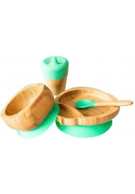 Set cadou din bambus Buburuza, verde, Ecorascals
