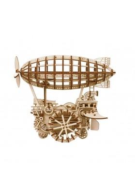 Puzzle 3D Airship, ROKR, Lemn, 229 piese