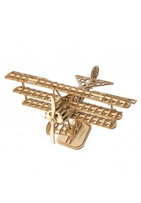 Puzzle 3D Avion, RoLIfe, Lemn, 145 Piese, TG301