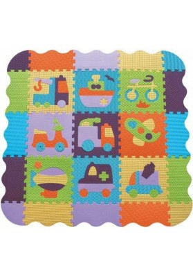 Babygreat Covoras Puzzle Transport II 122x122 cm