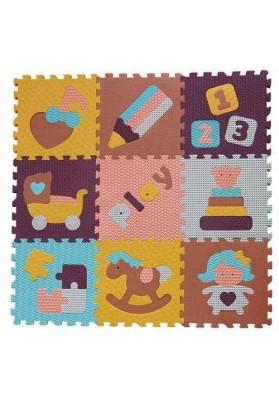 Babygreat Covoras Puzzle Lumea jucariilor 92x92 cm